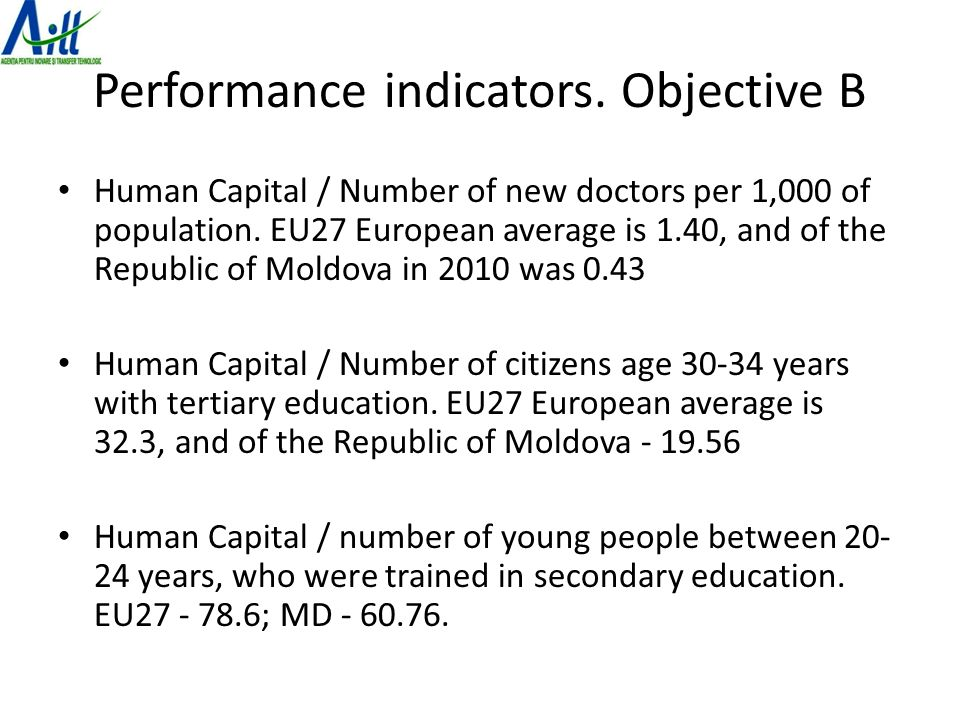 Performance indicators. Objective B Human Capital / Number of new doctors per 1,000 of population.