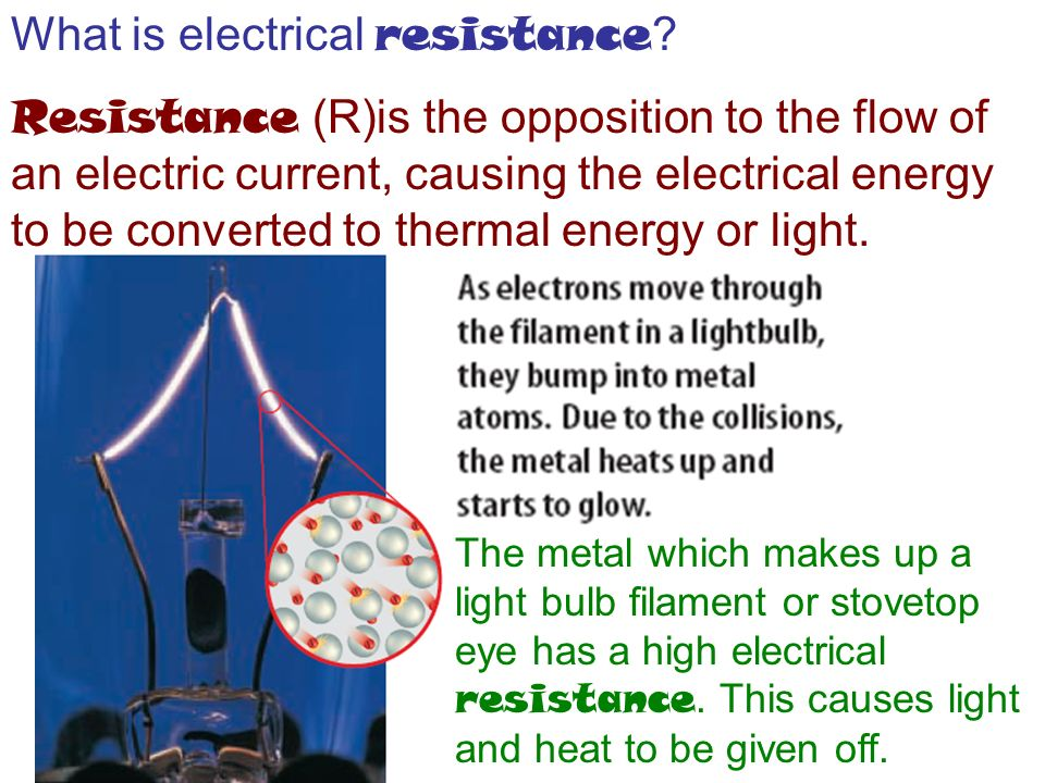 What is electrical resistance .