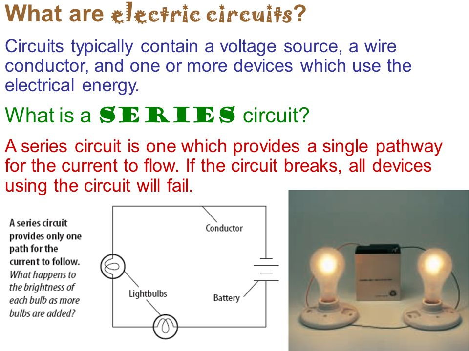 What are electric circuits .