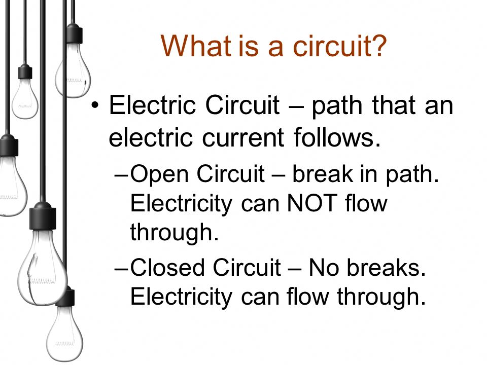 Circuits. SC Standards Covered PS – 6.8Represent an electric ...