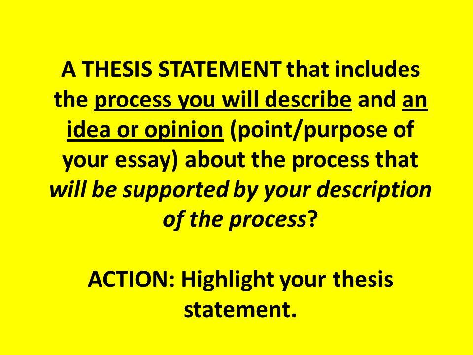 editing a process essay