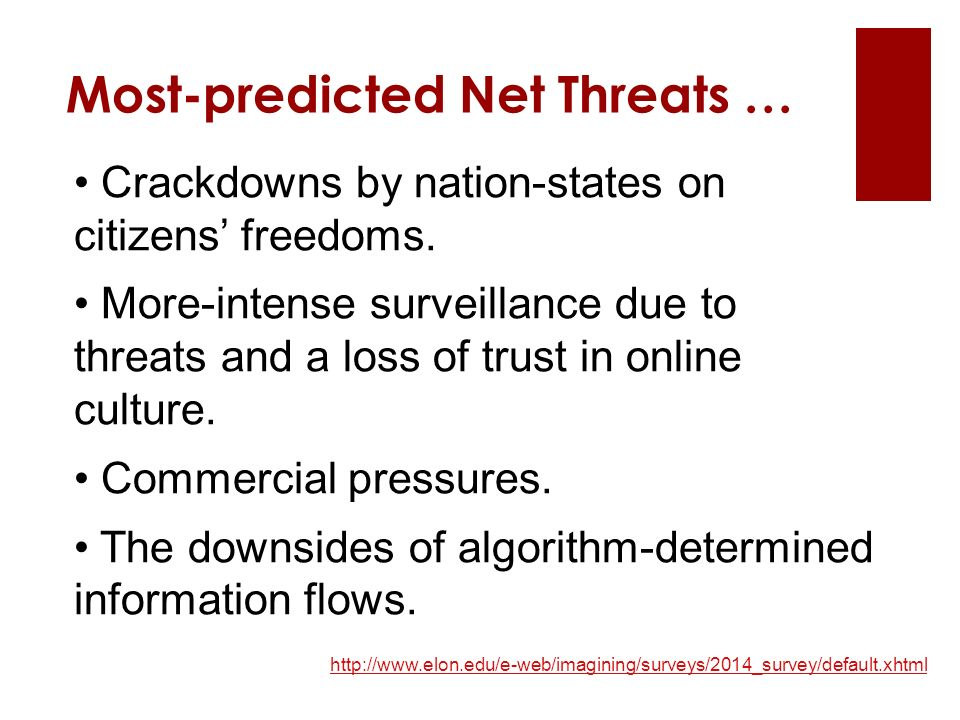 Crackdowns by nation-states on citizens' freedoms.