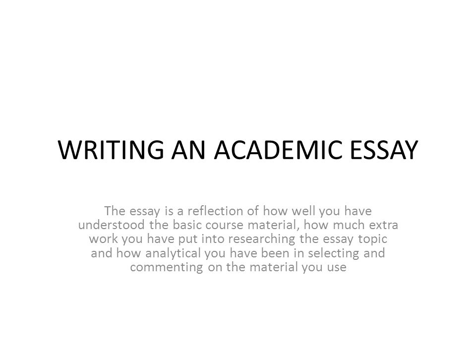 academic writing reflective essay