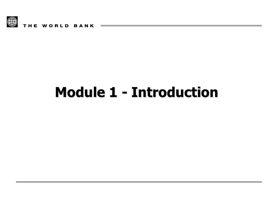 Module 1 - Introduction