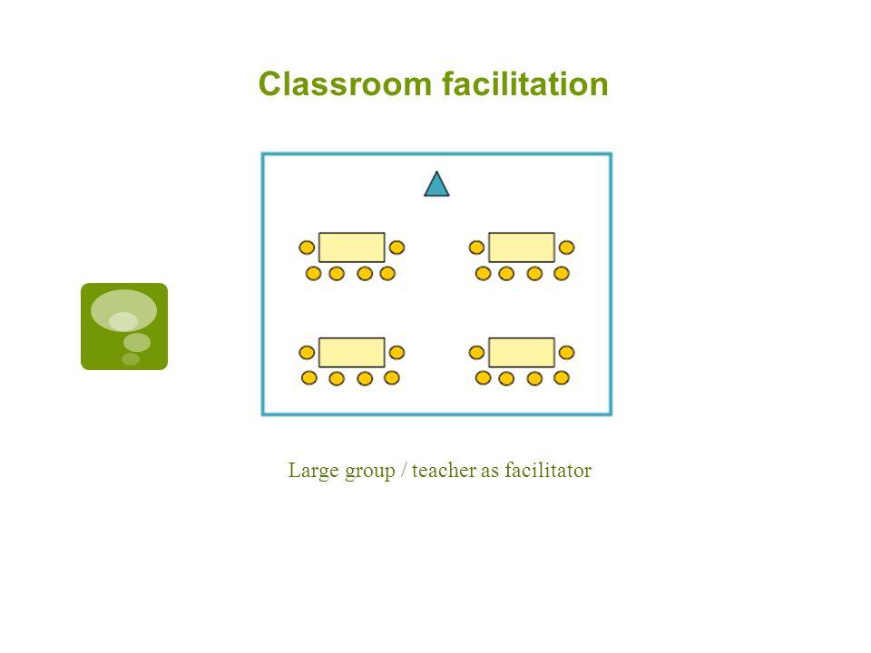 Classroom facilitation Large group / teacher as facilitator