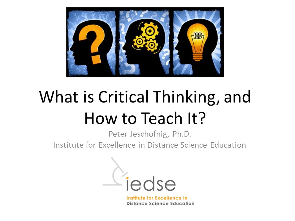critical thinking institute