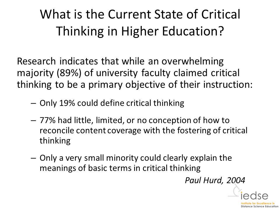 kurfiss critical thinking