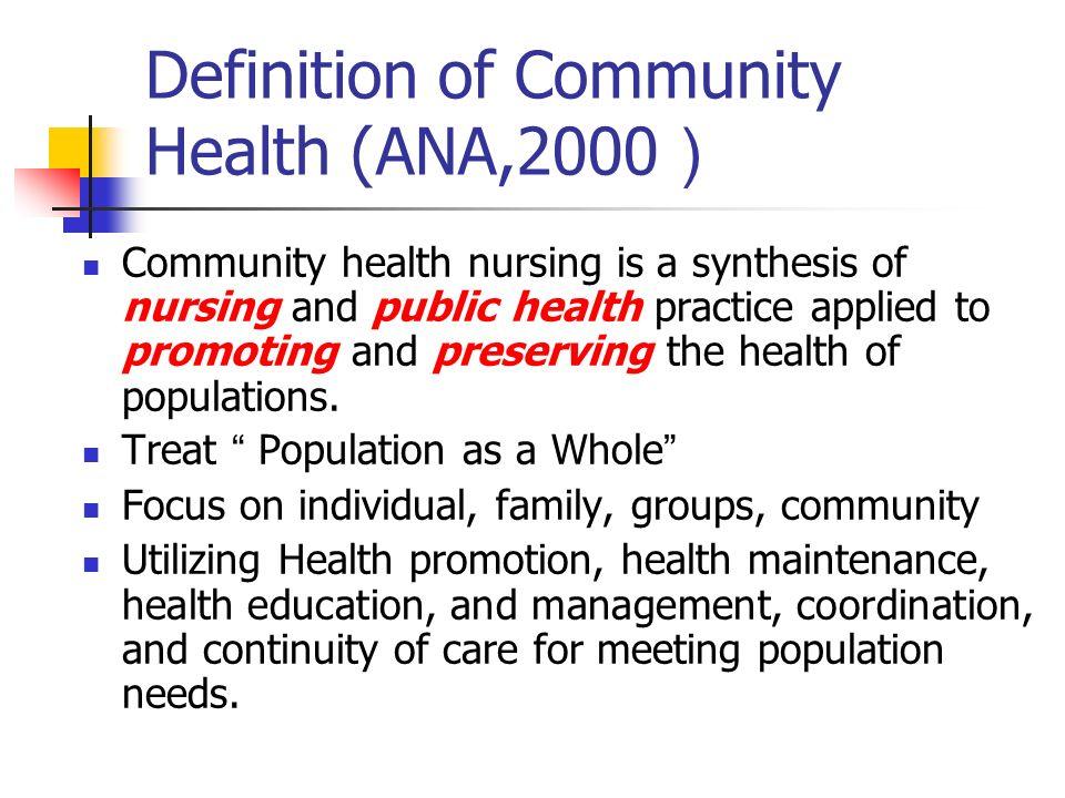 introduction to community health nursin
