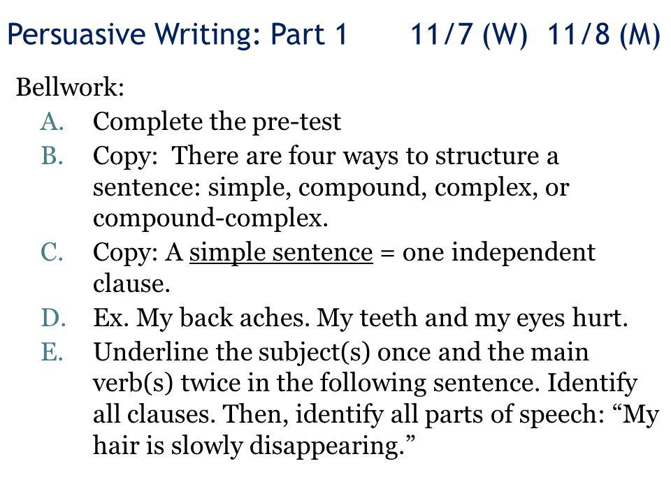 simple persuasive essay structure