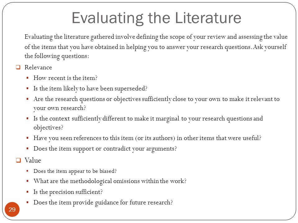 Literature Review Outline Template | Rightway Media