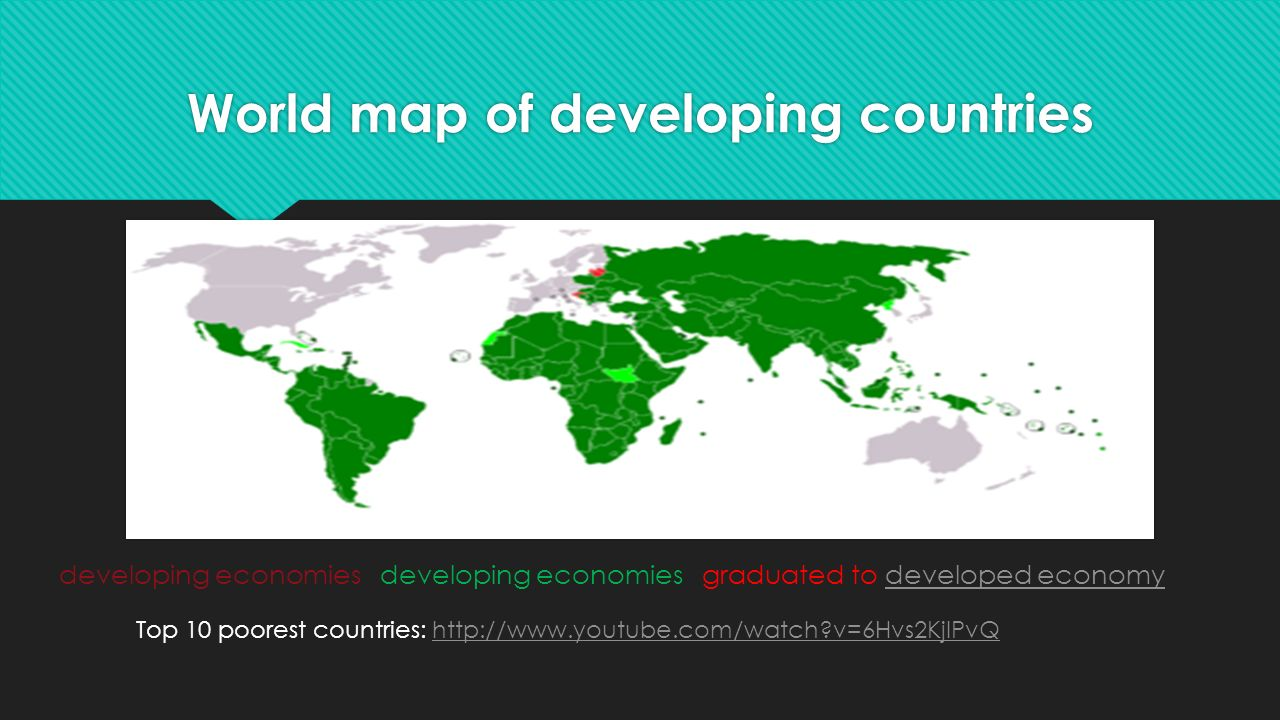 Developing versus developed countries sol wg8 fgms geography ppt 3 world map of developing countries developing economies developing economies graduated to developed gumiabroncs Choice Image