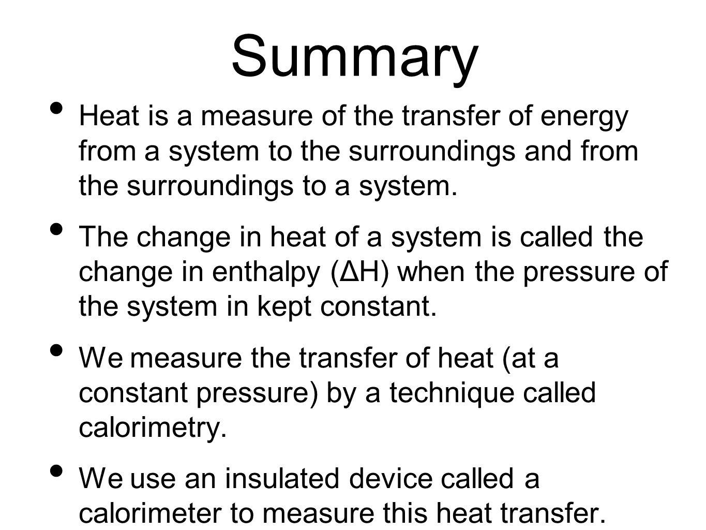 Coffee cup calorimeter problems - 44 Summary