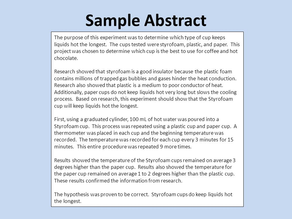 Science Fair Abstract Guidelines What Is An Abstract A Brief
