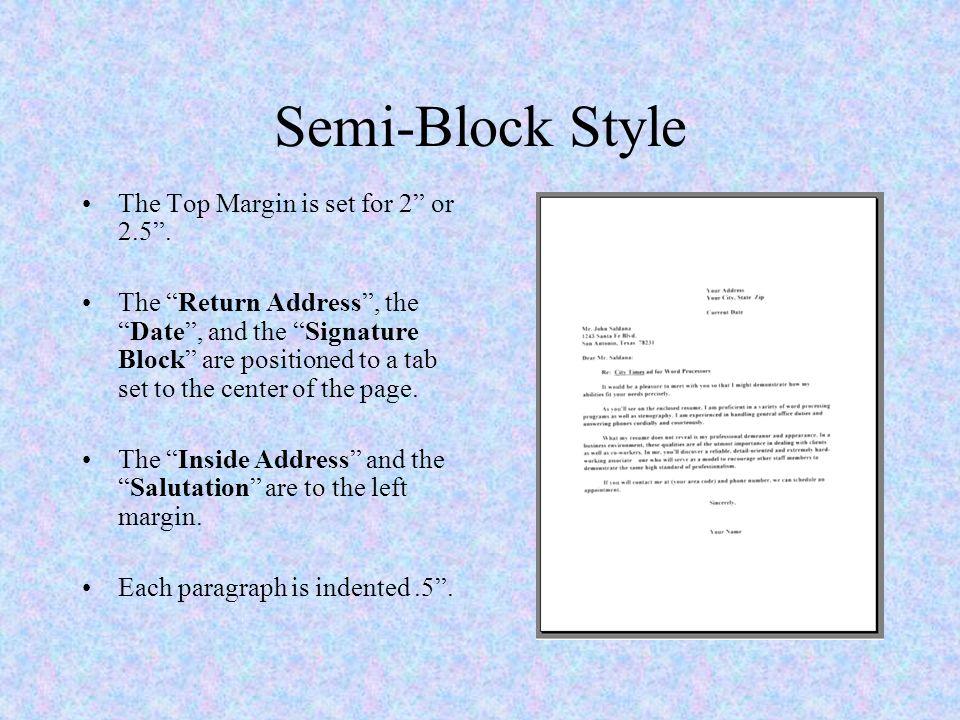 semi block style letter