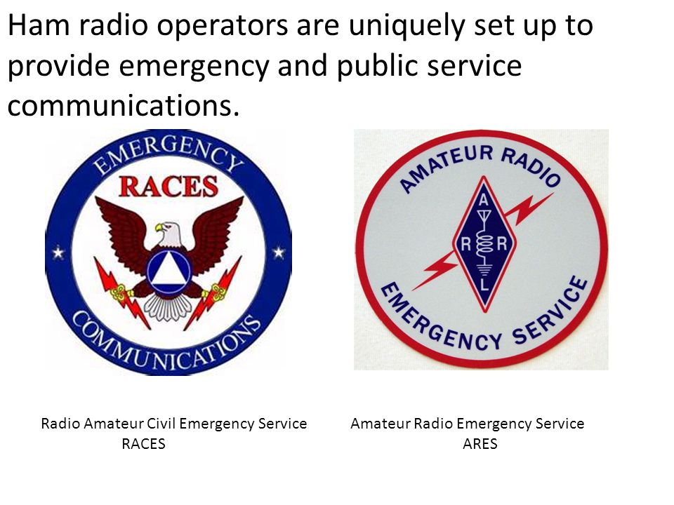 Amateur civil emergency service