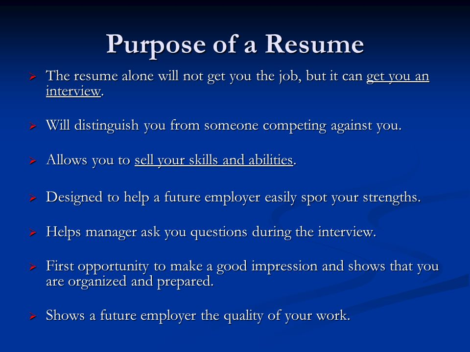 resume and cover letter workshop 2 purpose - Purpose Of Resume Cover Letter