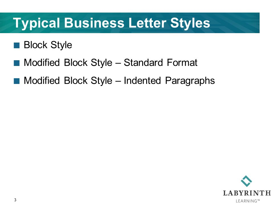 Lesson 7 Creating And Editing Business Letters 2 Learning