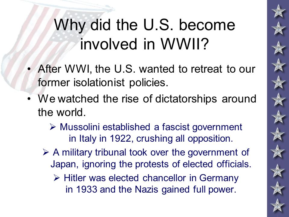 why did the usa become involved