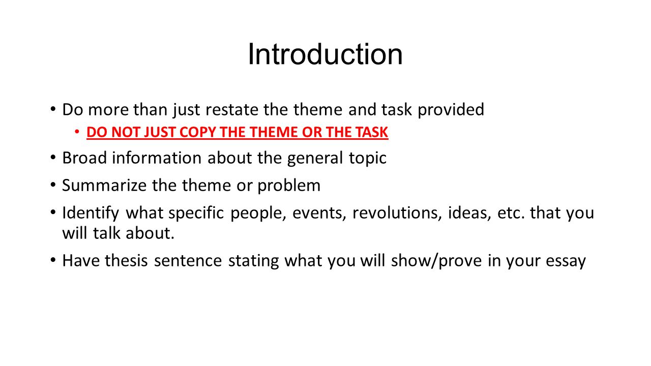 thematic essay writing tips answer all parts of the task best way 3 introduction