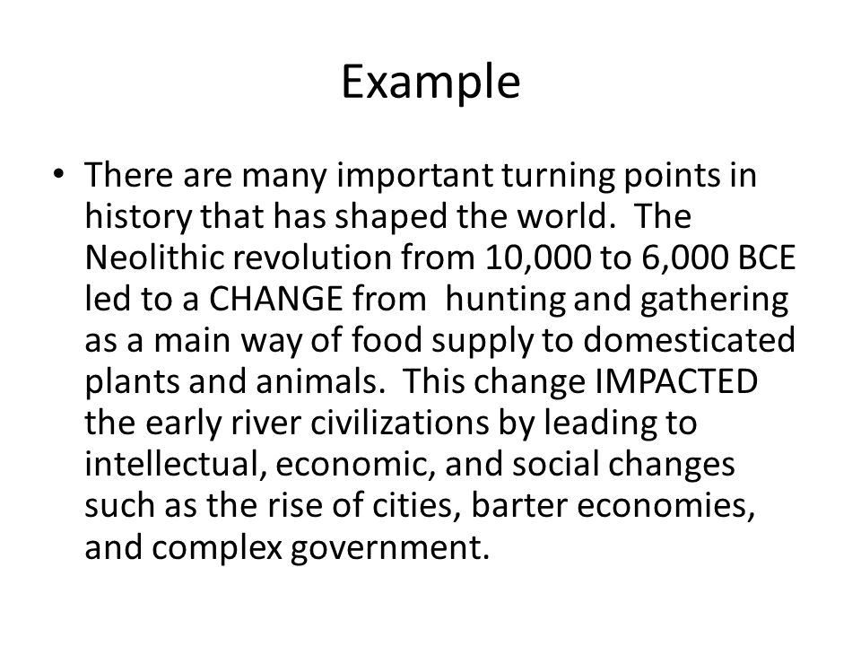 how to write a thematic essay the historical context notice  example there are many important turning points in history that has shaped the world