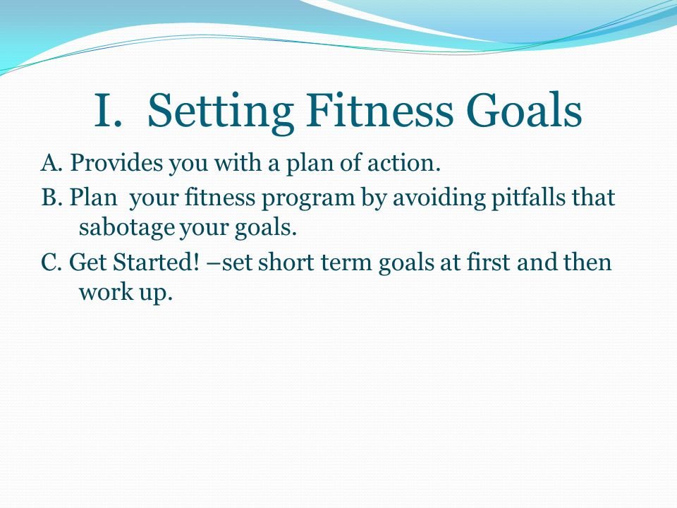 Keep these health concepts in mind when planning a fitness program: 1.To be effective, the exercise program you choose should address your specific needs and purposes.