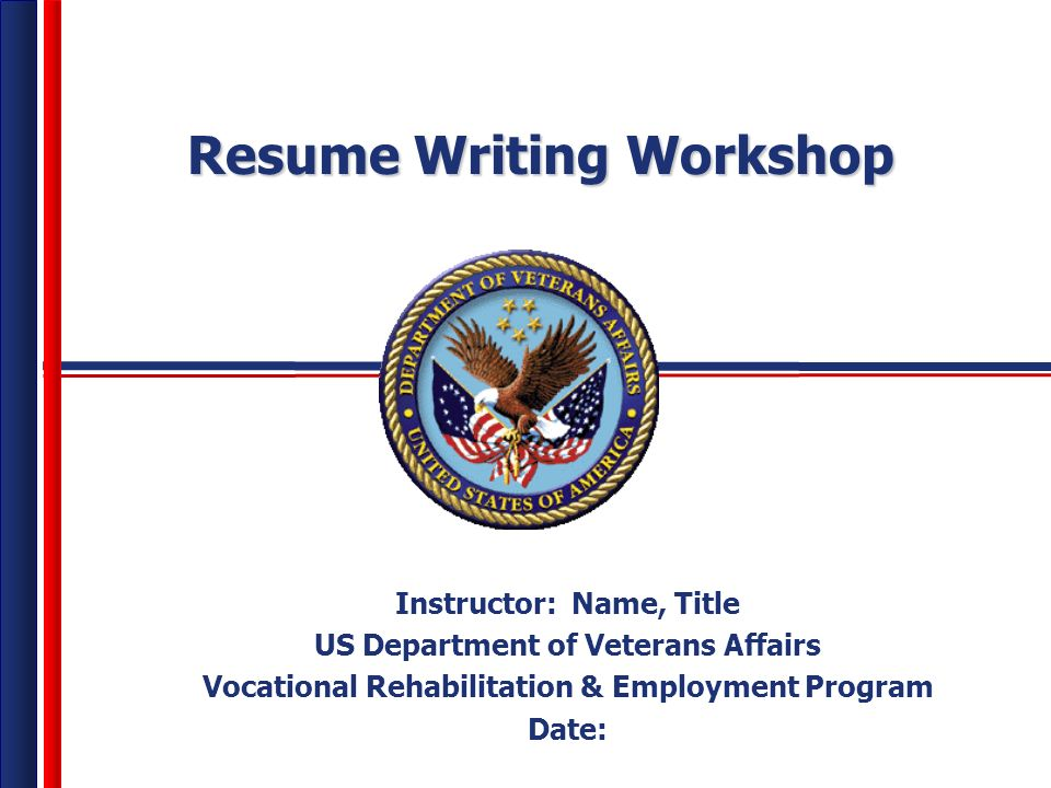 Resume Writing Workshop Instructor  Name  Title US Department of     Yelp