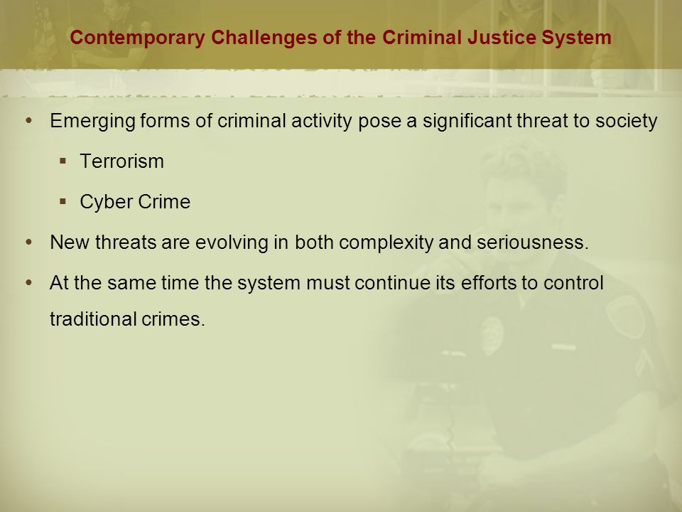 value of the criminal justice system in a changing society Boundaries of the criminal justice system: redefining the problem but as society's values how will the criminal justice system adapt to reloca.