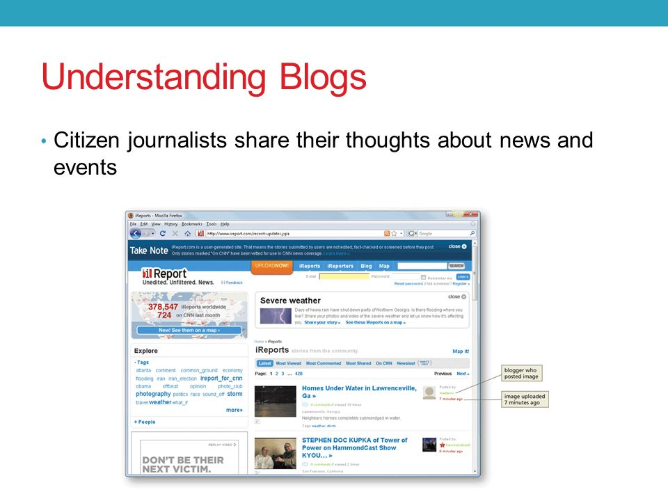 News and Opinion Blogs