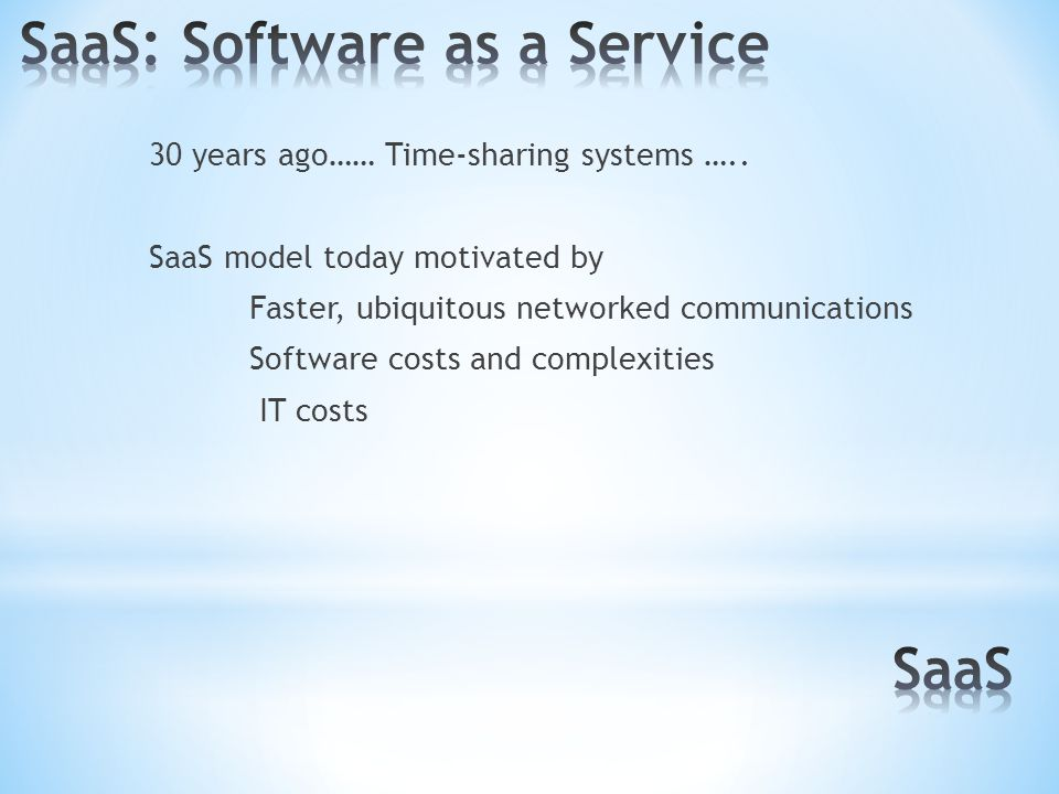 30 years ago…… Time-sharing systems …..