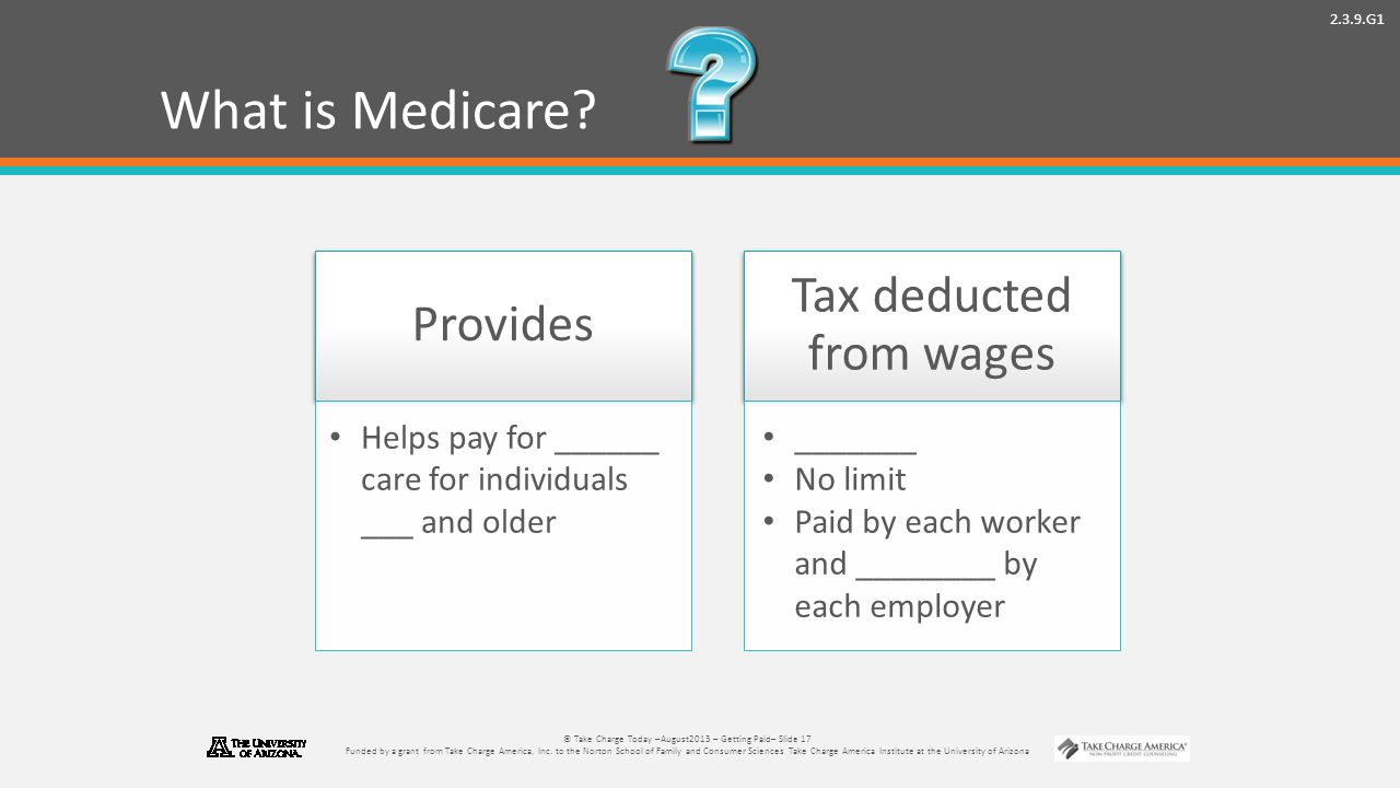 2.3.9.G1 © Take Charge Today –August2013 – Getting Paid– Slide 17 Funded by a grant from Take Charge America, Inc.