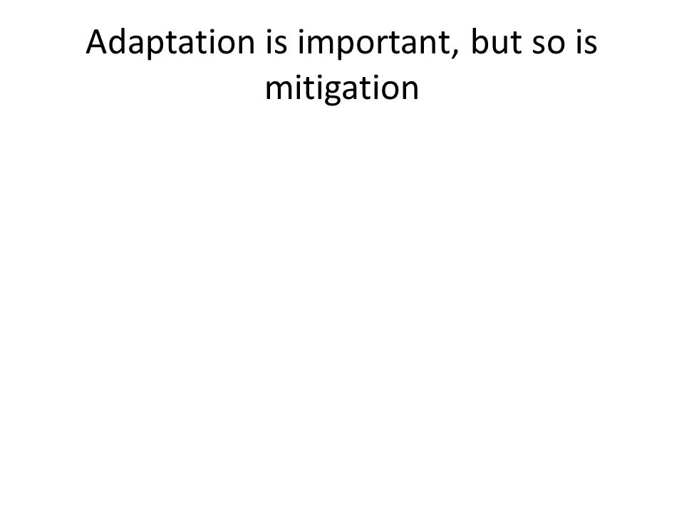 Adaptation is important, but so is mitigation