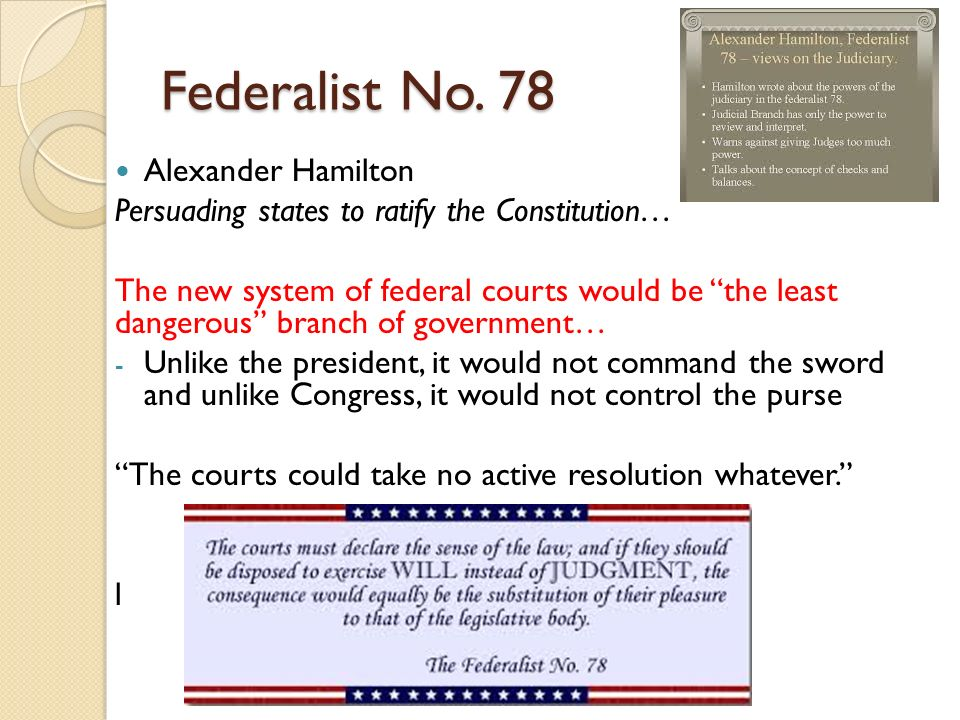 alexander hamiltons federalist no 78 essay