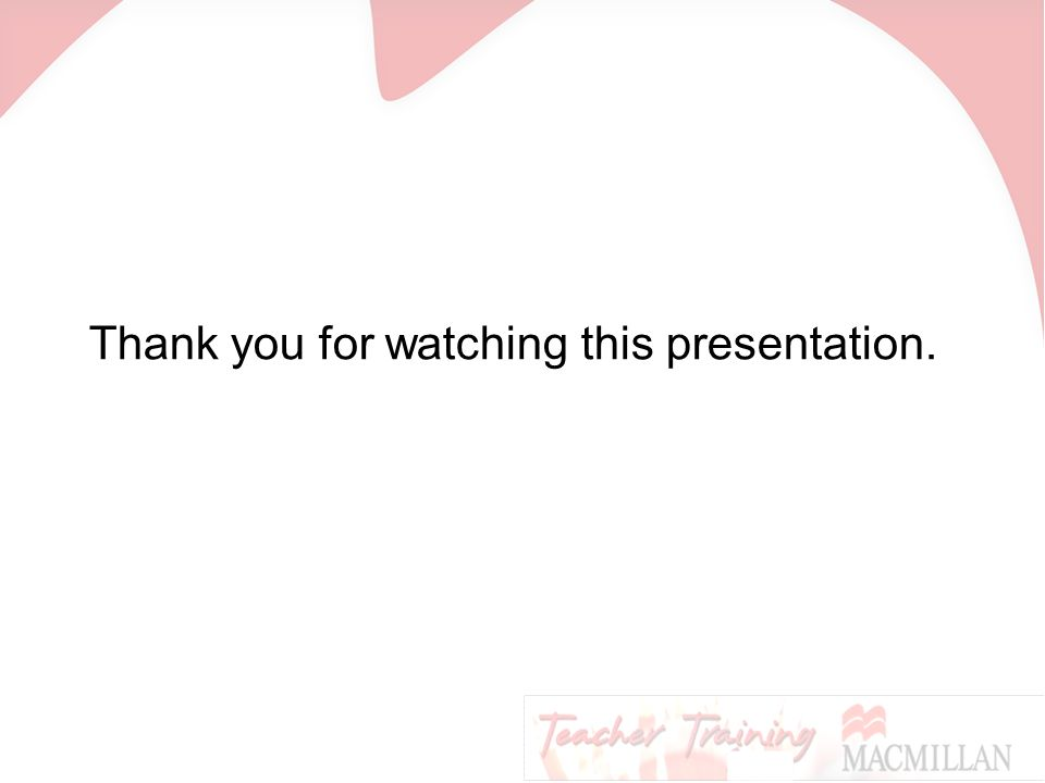 Thank you for watching this presentation.