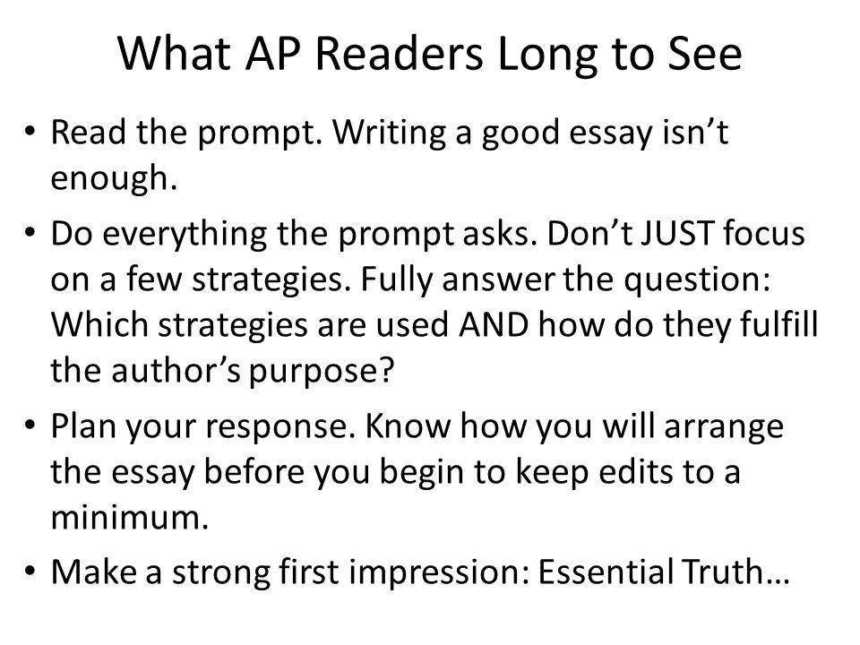 ap essay reader