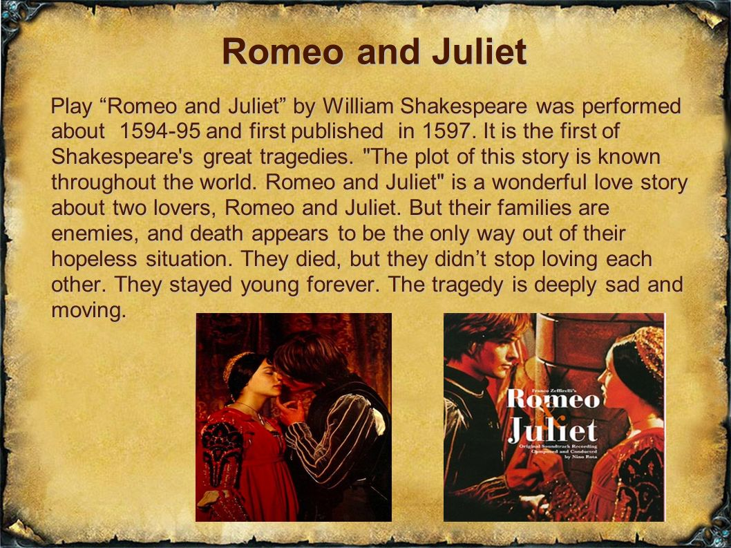 the examples of tragic heroes in william shakespeares romeo and juliet Romeo and juliet by william shakespeare and romeo there are examples of tragic heroes shakespeares sonnet 18 william shakespeare's sonnet.