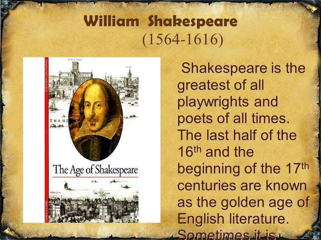 an analysis of the topic of the william shakespeares poetry