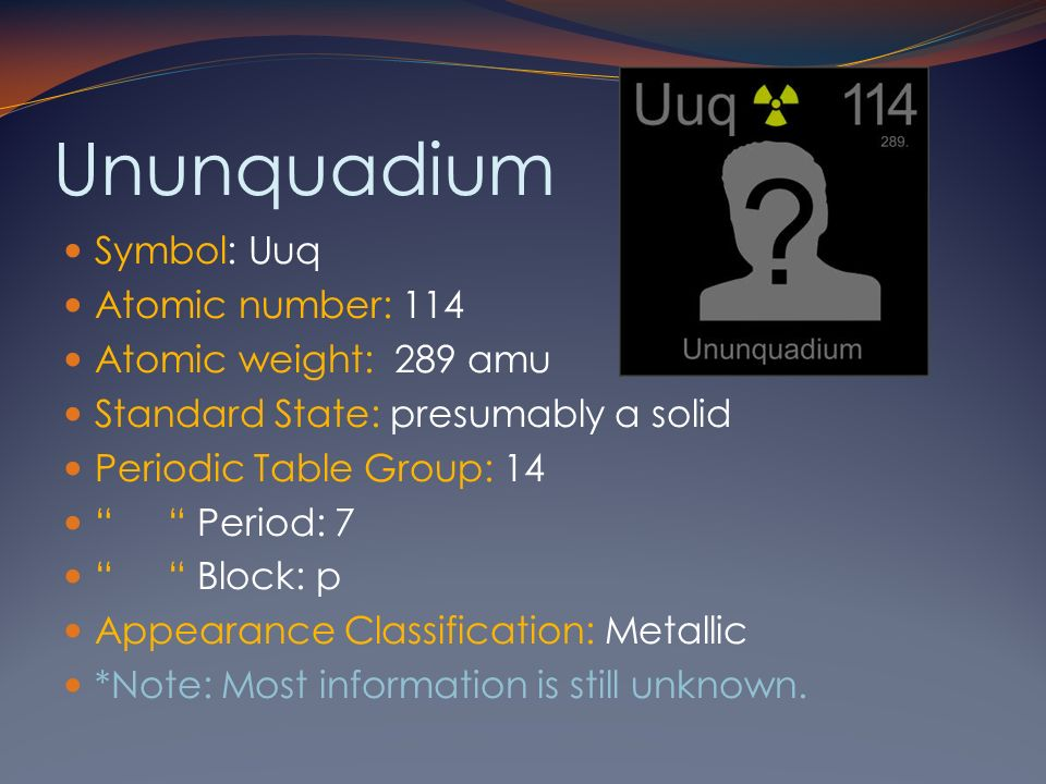 14 ununquadium symbol - Periodic Table Symbol Ununquadium