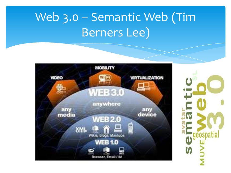 Web 3.0 – Semantic Web (Tim Berners Lee)