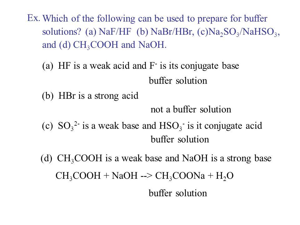 II. Buffer solution A. A solution that resist pH change when acids or base are added.