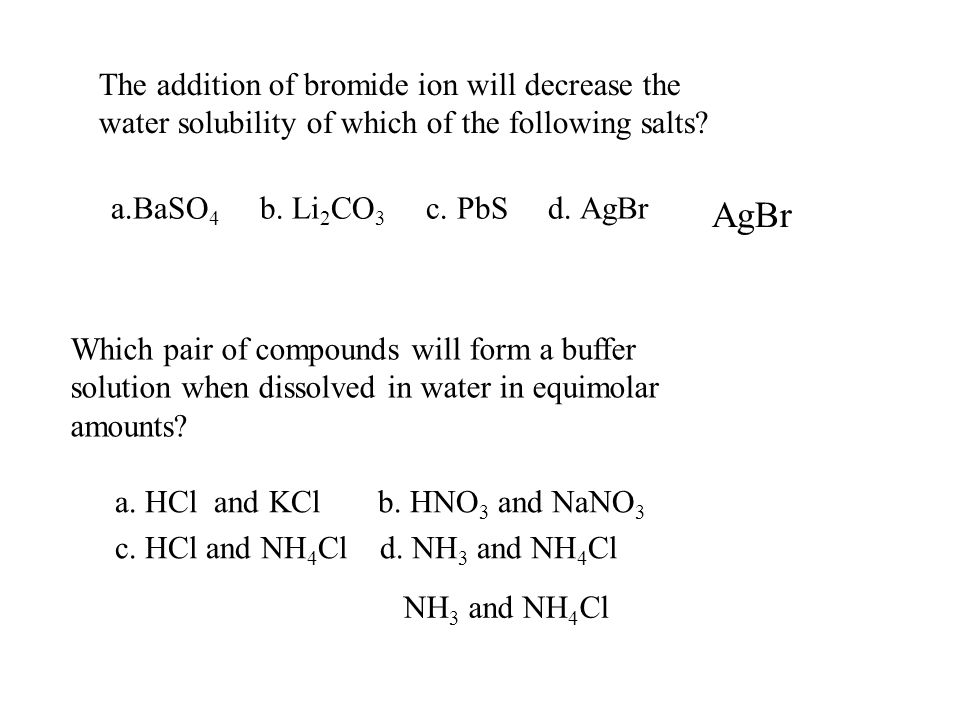 CH. 17 ACID -- BASE EQUILIBRA & BUFFERS 17.1 Common ion effect ...