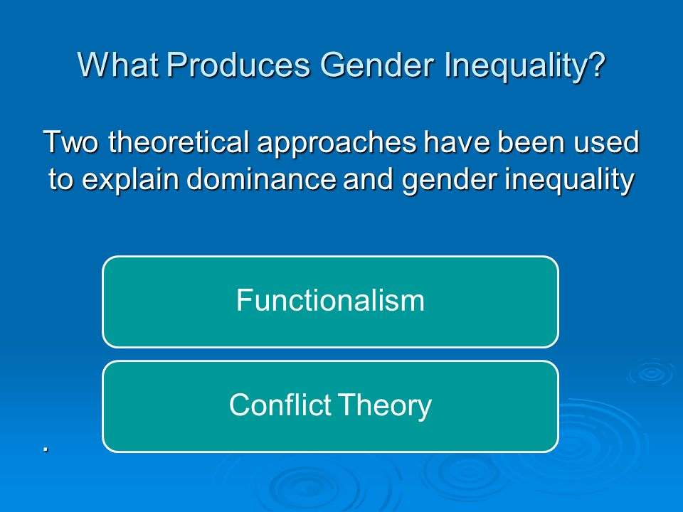What Produces Gender Inequality.