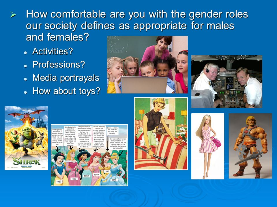  How comfortable are you with the gender roles our society defines as appropriate for males and females.