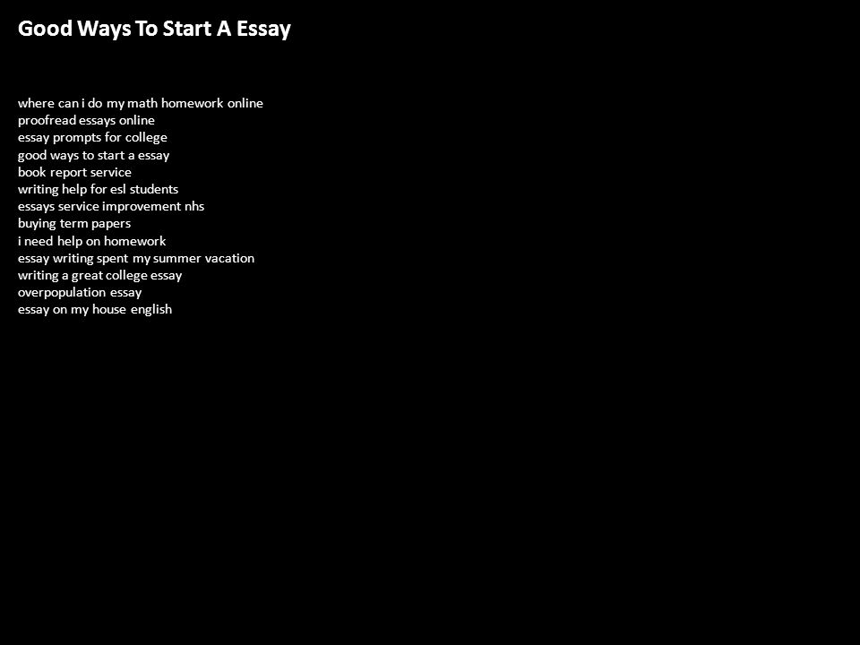Do homework essay