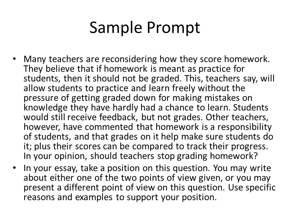 Accuplacer essay prompts