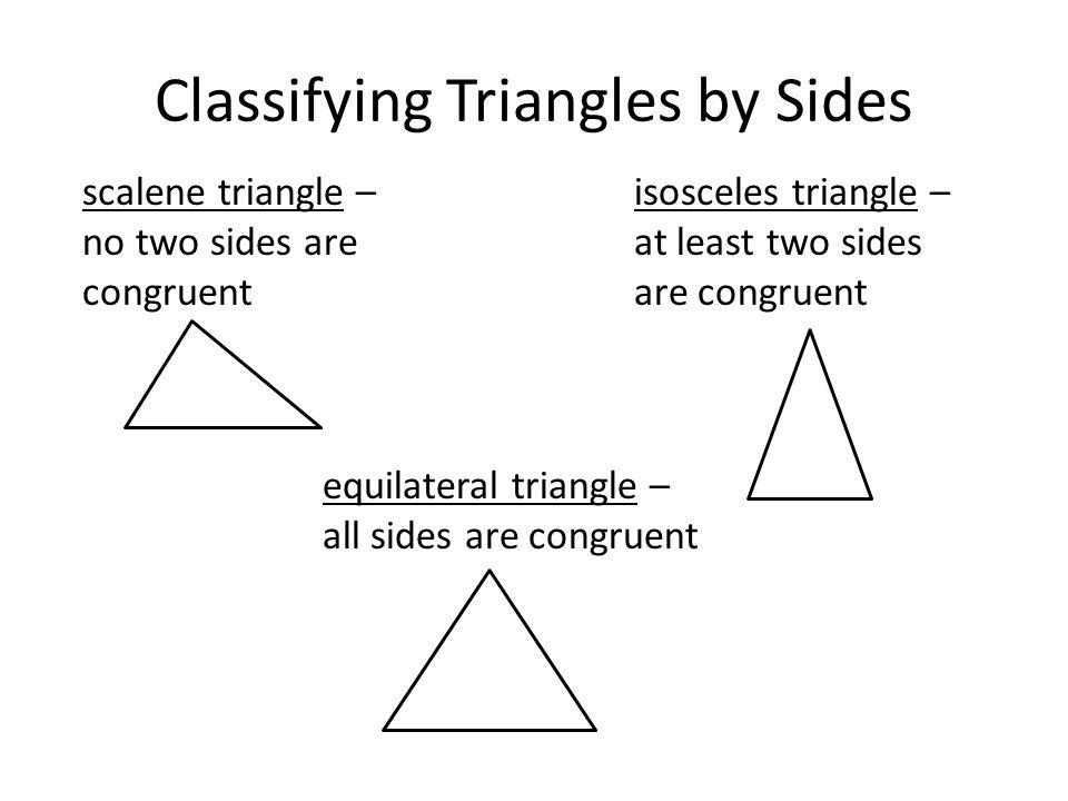 Triangles & Congruence Advanced Geometry Triangle Congruence ...