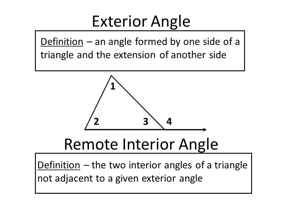 Define remote interior angle in geometry