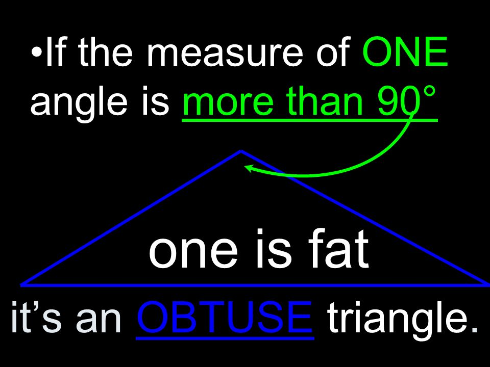 If EVERY angle is less than 90°, it is an ACUTE Triangle.
