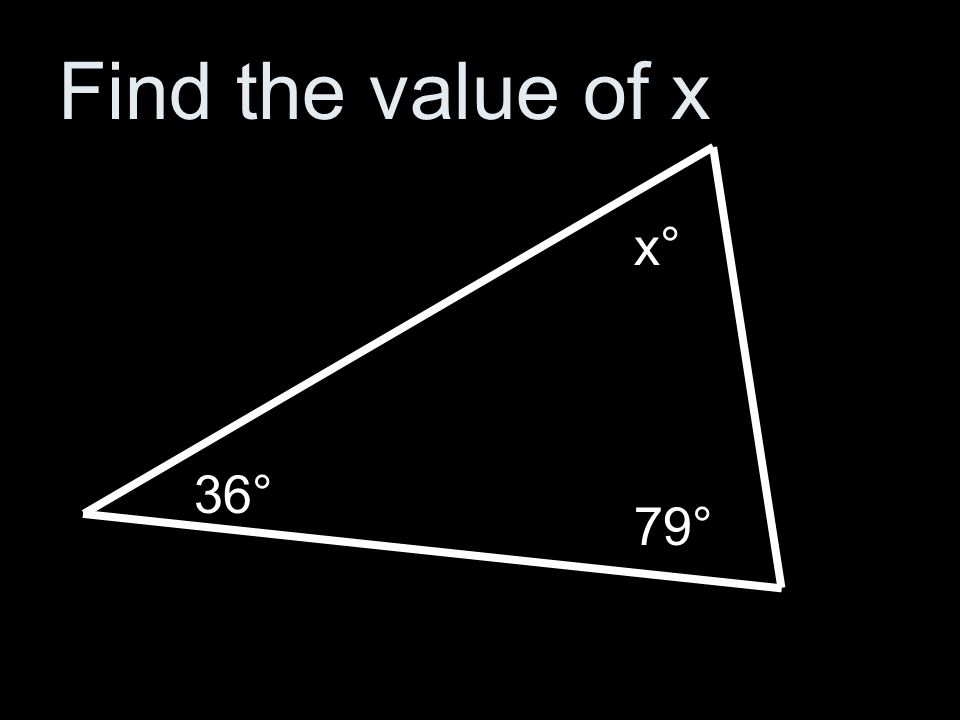 Find the value of x 28° x° 135°