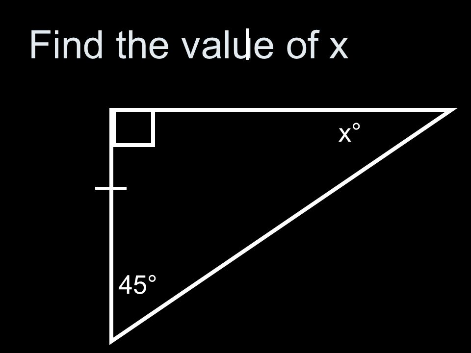 Find the value of x 36° 79° x°