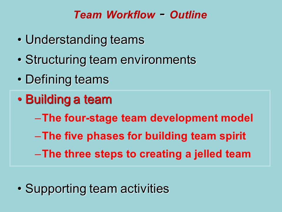 the five stages of team building